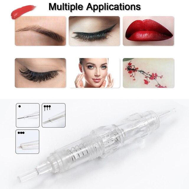10Pcs Permanent Makeup Machine Tattoo Needles Eyebrow Lips Cartridge Needles 1RL/2R/3RL/5/7/9RL for Permanet Makeup Machine Pen 1