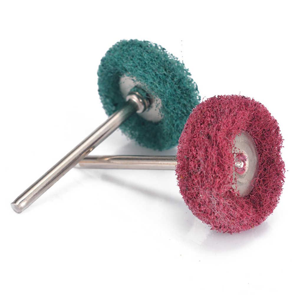 6 יח'\סט צמר הרגיש שחיקה מלטש ראש שוחק מרוט גלגל 2.35/3mm שוק כותנה חוט ליטוש מברשת עבור dremel Dril