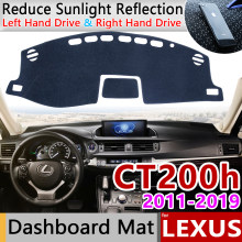 Untuk Lexus CT200h 2011 ~ 2019 CT 200 200 H F SPORT Anti-Slip Mat Dashboard Cover Pad Kerai dashmat Karpet Aksesoris 2013 2014(China)