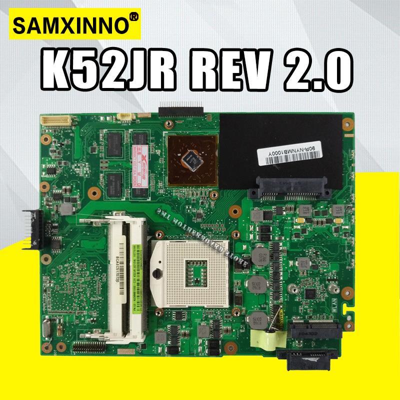 K52JR REV2.0 материнская плата для ноутбука For Asus A52J X52J K52J K52JR K52JE K52JC K52JU K52JB материнская плата 512M тест 100% ОК