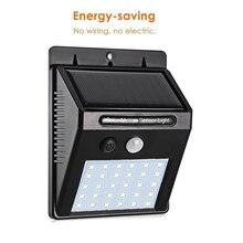 20/30 LEDs Solar Light PIR Motion Sensor Garden Outdoor Lighting Energy Saving Street Yard Path spot Lamp Dropship