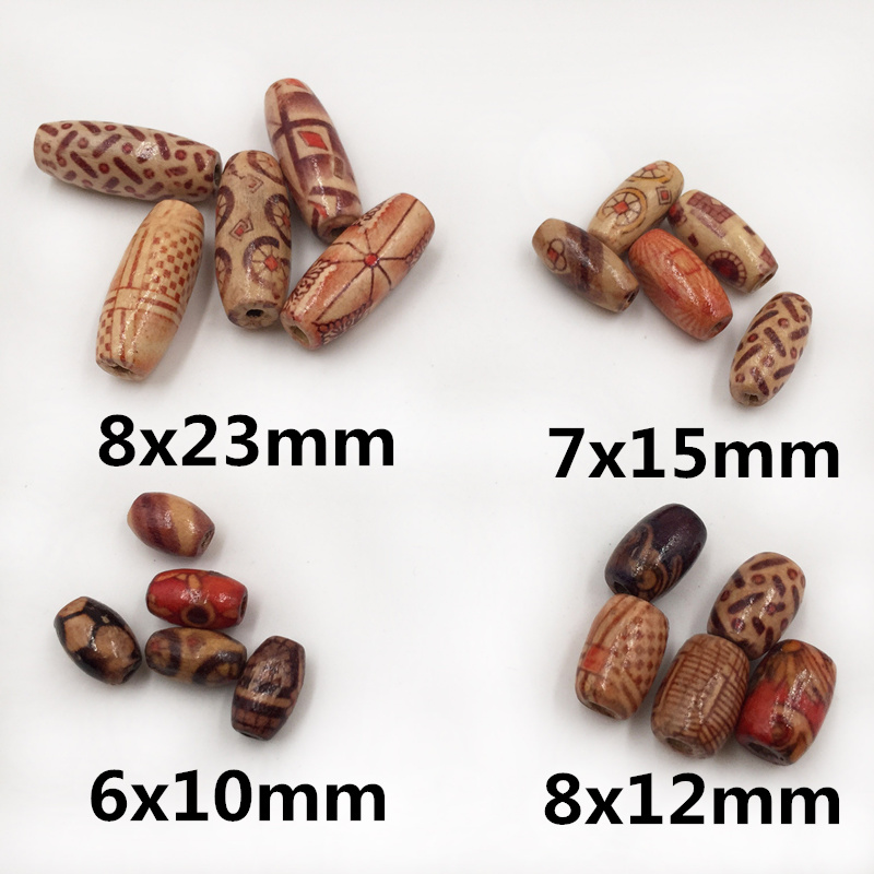 Jewelry Charm-Bracelet Letter-Bead Assorted Loose-Spacer Wooden Mixed-Pattern Handmade Diy