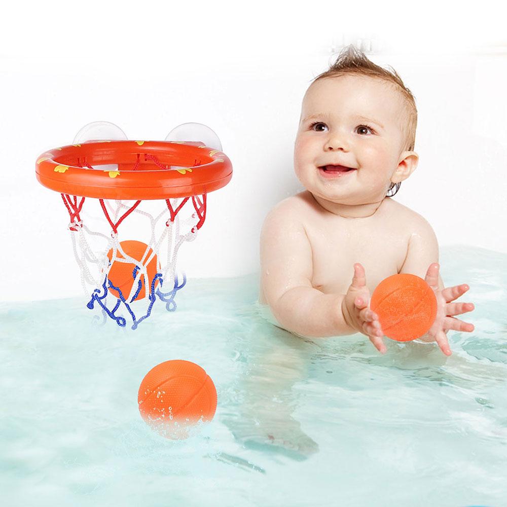 Toddler Water Game Basketball Hoop with 3 Balls Mini Shooting Balls Toy Set Baby Boy Bath Games   Bathroom Swimming Pool Bathtub