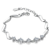 Женские браслеты с четырьмя когтями и кристаллами циркония роскошный