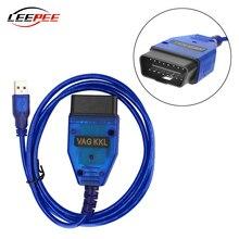 LEEPEE Car VAG COM 409 KKL OBD2 Diagnostic Scanner Scan Tool Cable OBD II USB Interface For VW Audi Seat Volkswagen Skoda