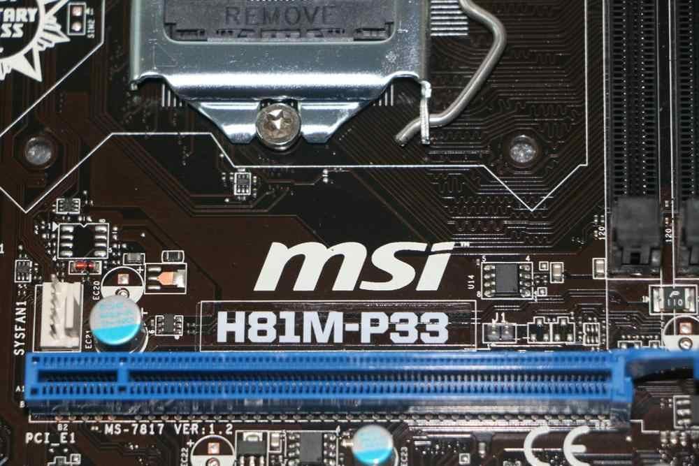 Cho MSI H81M-P33 1150 H81 Bo mạch chủ USB3 SATA3 hỗ trợ I3 4150 Ban Đầu Sử Dụng Bo mạch chủ