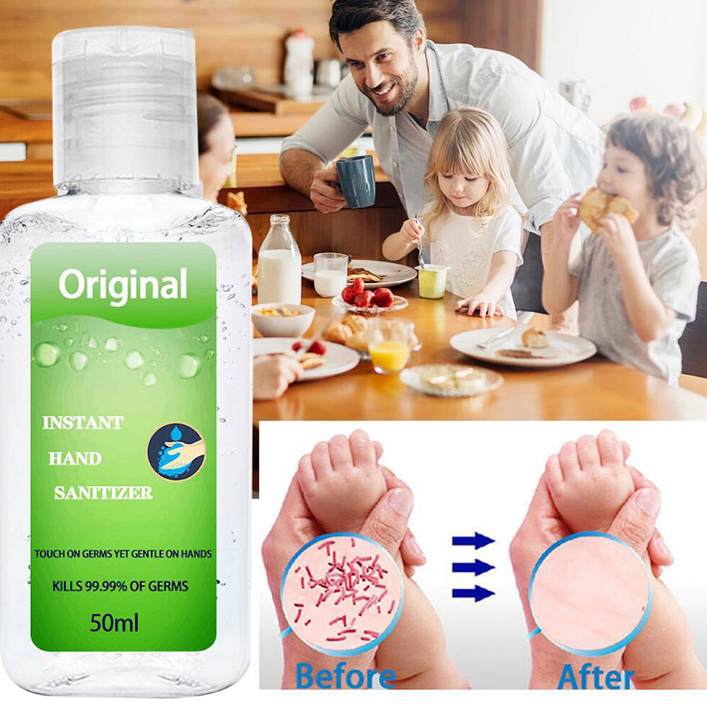 50ml Hand Sanitizer Gel Anti-Bacteria Moisturizing Liquid No Clean Waterless Portable Travel Disposable Antibacterial Hand Gel
