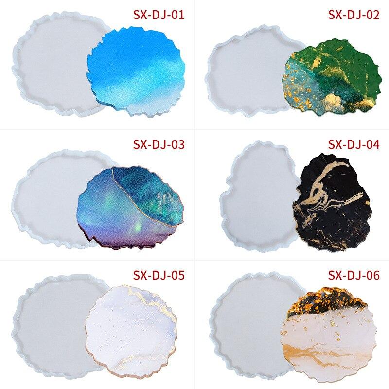 Креативная форма «сделай сам» для изготовления подставок, прозрачная эпоксидная смола, силиконовый коврик для чашки, форма, разные типы дек...
