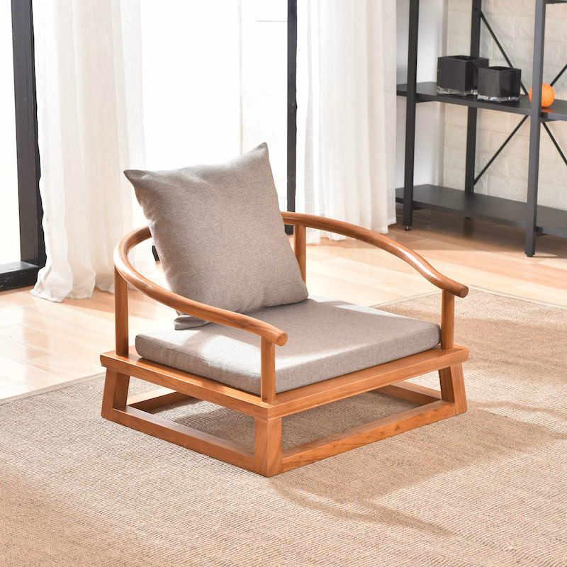 chaise tatami moderne fauteuil bas style asiatique chinois japonais chaise de loisirs en bois massif pour les jeux la lecture la television