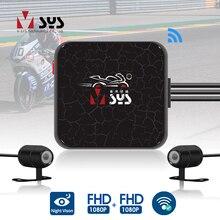 SYS VSYS C6 podwójna kamera akcji motocyklowej rejestrator DVR widok z przodu iz tyłu wodoodporna kamera na deskę rozdzielczą motocykla ciemna noc Vision Box