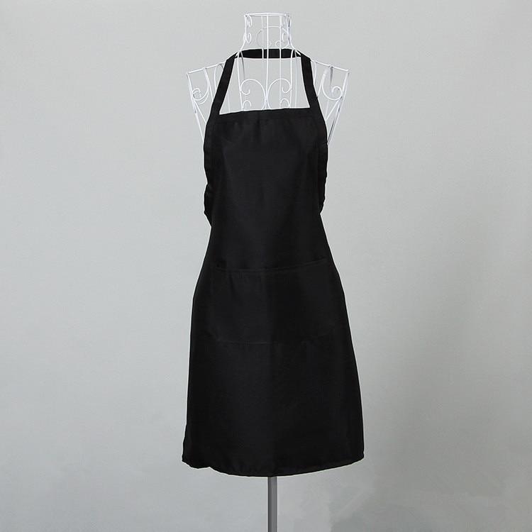 1PCS Pure Color 63x70CM Polyester Classic Design Work Apron Kitchen Apron With Pocket Couples Apron Household Merchandises