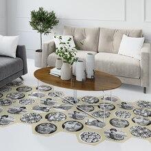 цены Waterproof Bathroom Floor Stickers Peel Stick Self Adhesive Floor Tiles fornasetti Kitchen Living Room Decor Non Slip Floor Deca