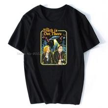 Мужские хлопковые футболки в стиле ретро с героями мультфильмов The X Fils Truth Is Out There Book Cover, уличная одежда в стиле Харадзюку