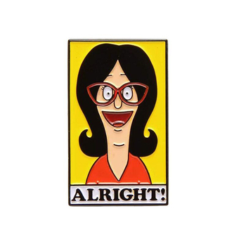 Cult Cartoon Classic TV Show Pin Brooch Features Linda Belcher Being Positive And Encouraging! image