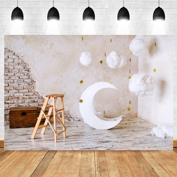 Yeele Birthday Photocall Grunge Wall Moon Star Cloud Photography Backdrop Personalized Photographic Backgrounds For Photo Studio