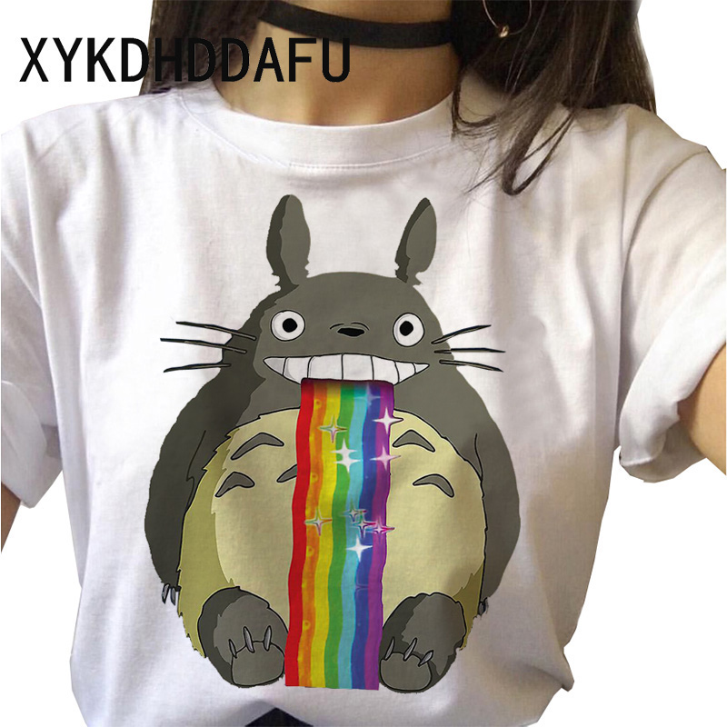 Hcf1391d214774569bb008b8a80c03978e - Totoro T Shirt Women Kawaii Studio Ghibli Harajuku Tshirt Summer Clothes Cute Female ulzzang T-shirt Top Tee japanese Print