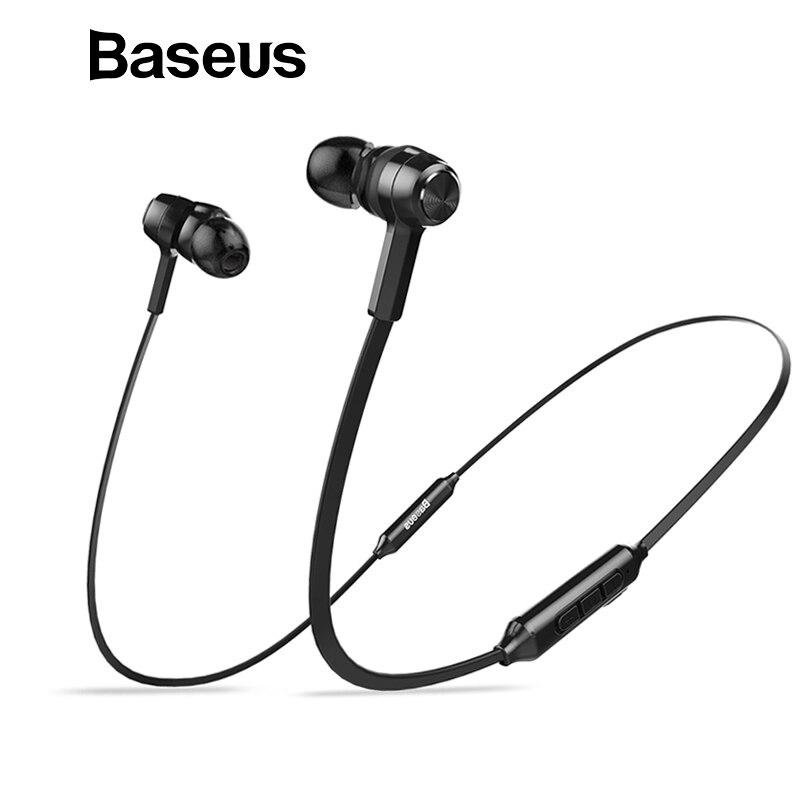 Baseus S06 Auriculares Bluetooth Auriculares magnéticos inalámbricos audífonos de cuello Auriculares deportivos estéreo para teléfonos Auriculares con micrófono