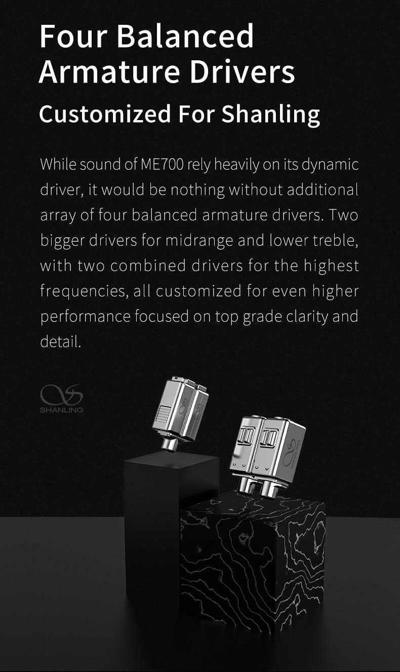 triplo-furo design 3d impresso concha mmcx octa-core cabo