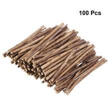 Bâtons de bûches en bois naturel de 10CM de Long, 100 pièces, pour bricolage artisanat, branches d'écorce d'arbre, disques de bûches, décoration de bricolage artisanale