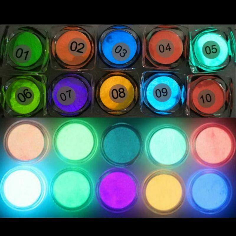 10PCS Luminous Powder Resin Pigment Dye UV Resin Epoxy DIY Making Jewelry Accessories