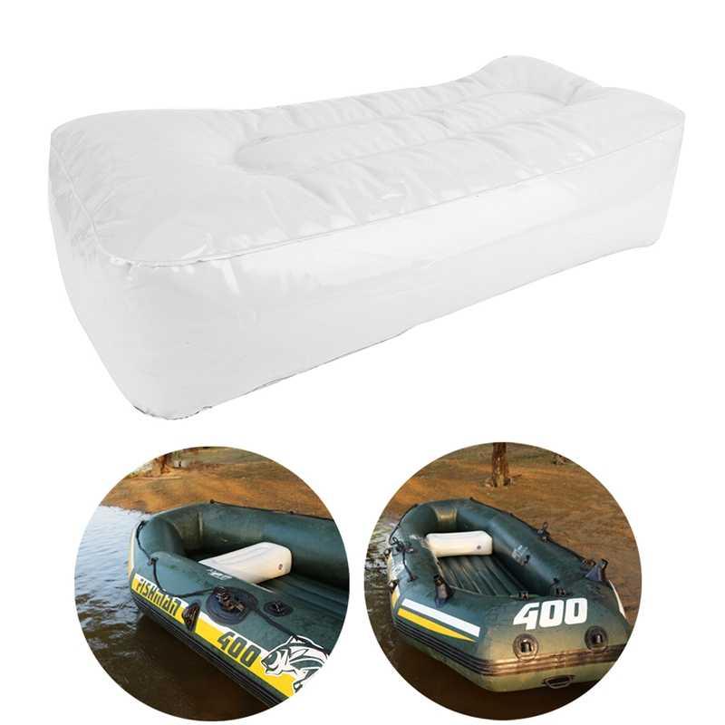 2Pcs Outdoor Kayak Bantal Kayak Memancing Inflatable Bantal Premium PVC Inflatable Boat Kursi Berlayar Kursi