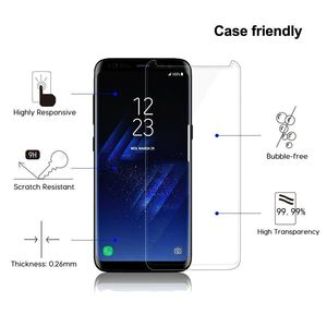 Image 4 - JGKK Case Fit 3D di Vetro Curvo Per Samsung Galaxy S8 S9 Plus Vetro Temperato di Caso Amichevole Protezione Dello Schermo Per S8 più S9 Scudo