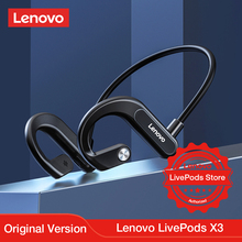 Lenovo LivePods X3 Bluetooth אוזניות ספורט ריצה עמיד למים אלחוטי Bluetooth אוזניות 9D Stere 2021 חדש תוכנן