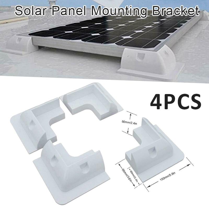 4x branco painel solar fixacao kit suporte para caravanas camper rv caminhoes onibus barcos iates