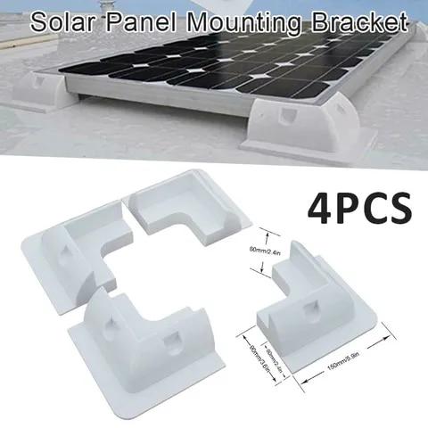4x branco painel solar fixacao kit suporte para caravanas camper rv caminhoes onibus barcos