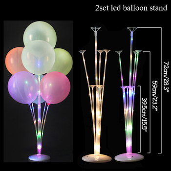 LED Light Air Balls Balloon Stand Column Wedding Table Decoration Balloons Holder Christmas Baloon Baby Shower Birthday Party 21