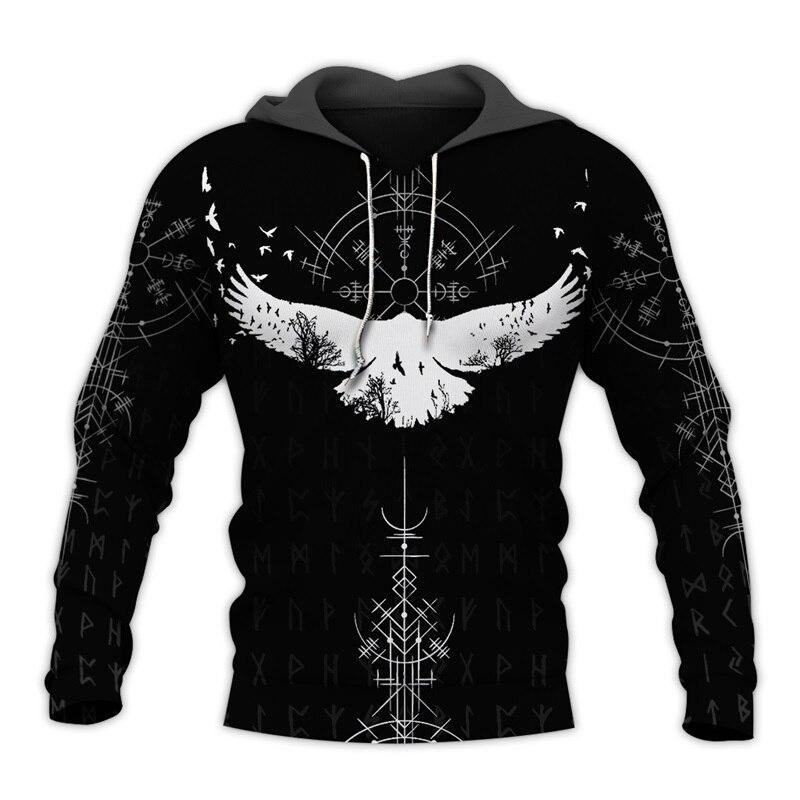 PLstar Cosmos Viking Warrior Tattoo 3D Printed Shirts Casual 3D Print Hoodies/Sweatshirt/Zipper Man Women Satan Tattoo-46