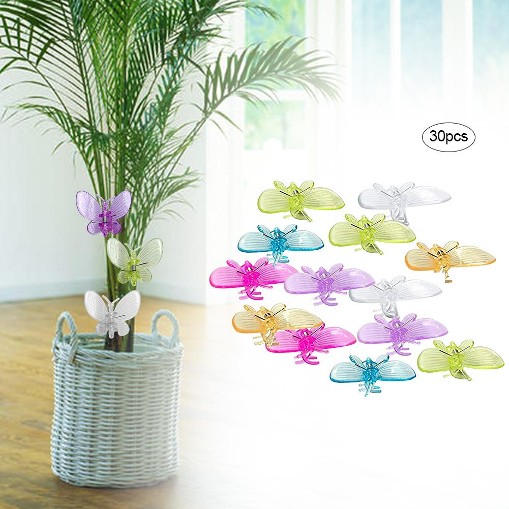 30 PCS Butterfly Orchid Clips Plant Clips Garden Support Clips For Home Garden Plants Plastic