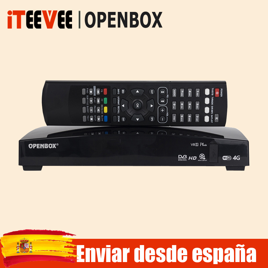 1PC Openbox V8S plus V8S satellite receiver V8 with UK TP USB Wifi WEB TV Cccamd Newcamd Mgcamd DVB-S2 S2 ship from spain(China)