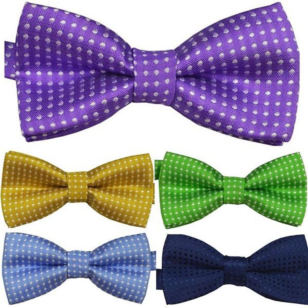 New KID/'S BOY/'S Polyester paisley Pre-tied Bow tie dark purple formal wedding