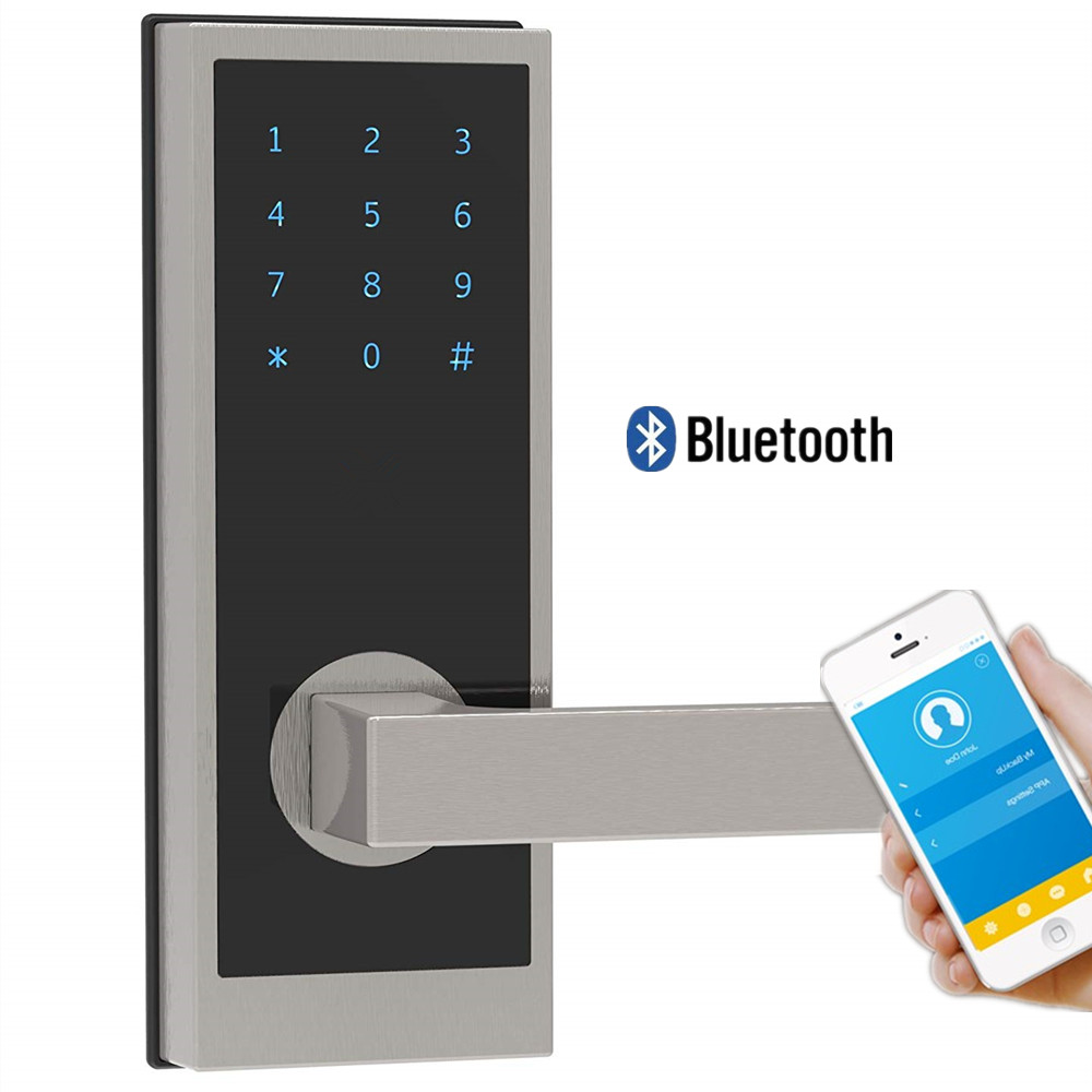 Bluetooth Smart Digital Door Lock with in-App Monitoring Unlimited e-Keys Weather Sealed, Keyless, Mini RFID Keycards image