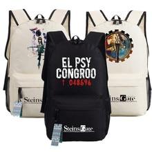 Mochila de Cosplay Steins Gate, bolso para adolescentes, mochila de Anime Oxford, bolsa de viaje Unisex para ordenador portátil, regalo