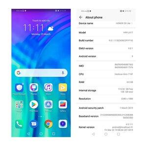 Image 4 - global version honor 20 lite Mobile Phone 6.21 inch  Android 9.0 FM Face Fingerprint Unlock   Smartphone