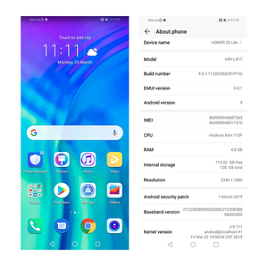 Image 4 - グローバルバージョンhonor 20 lite携帯電話 6.21 インチのアンドロイド 9.0 fm顔指紋ロック解除スマートフォン