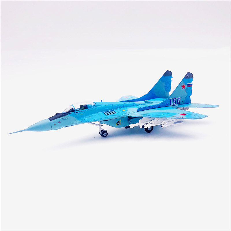1:100 scale MiG-29 fulcrum Russian Air Force MIG alloy Fighter Model Aircraft Airplane Toys Adult Children plane Gift F Display image