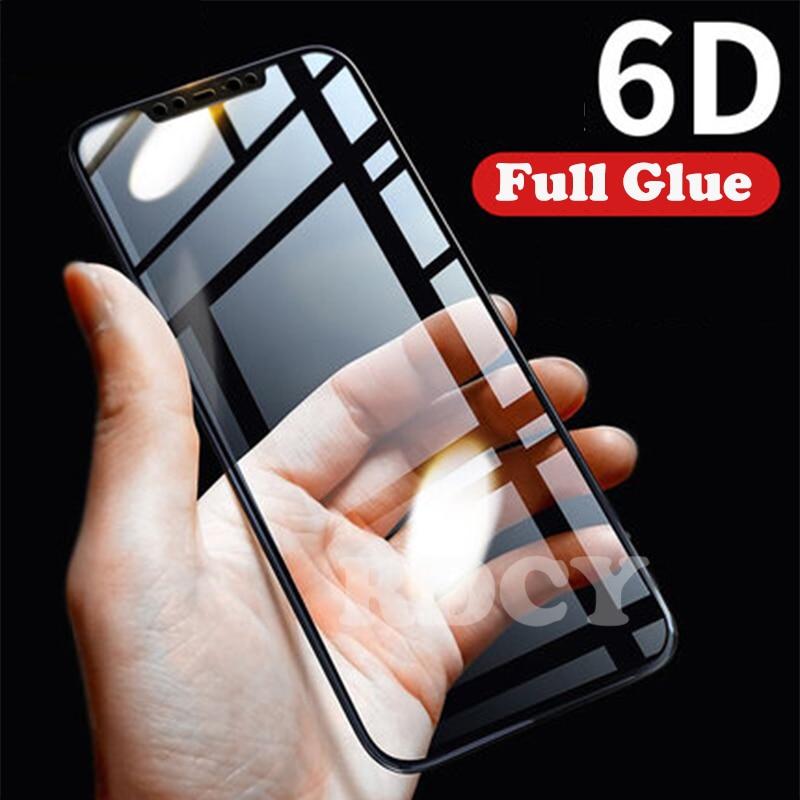 RDCY 6D Full Cover Glue Tempered Glass For Xiaomi A3 CC9e POCO F1 Mi 8 9 Se A2 Lite Mi 8 Lite F1 Note 5 6 7 8 Pro Redmi K20 K30