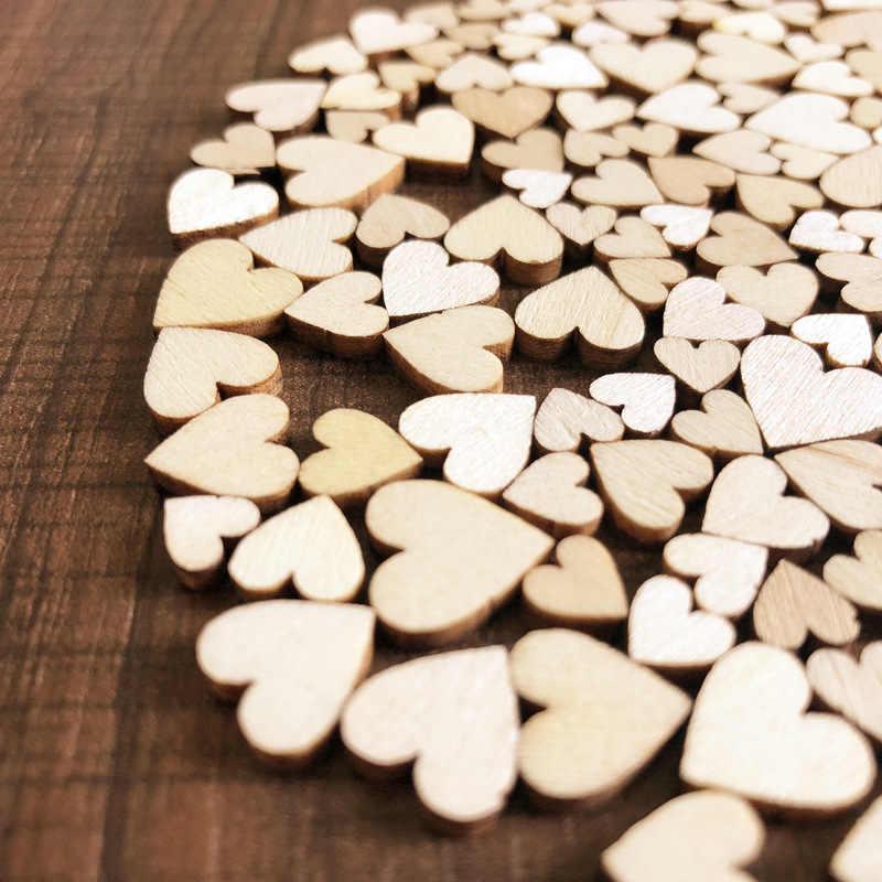 50 шт./пакет деревенский деревянный «любящее сердце» свадебный стол посыпать Цветы Украшения DIY ручной работы Diy рождественские украшения