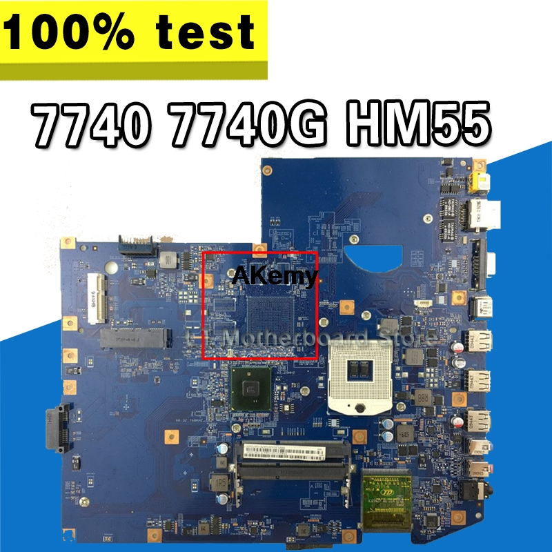 For Acer Aspire 7740 7740G Laptop Motherboard 48.4GC01.011 MBPLY01001 Mainboard HM55 Test Good