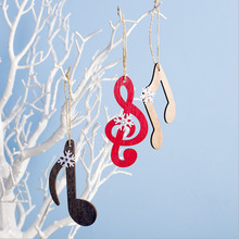 4PCS Musical Notes Elk Pattern Christmas Set Decoration Pendant Tree Gift Bag