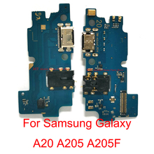 5 PCS Original USB Charging Port Connector Board Dock Flex Cable For Samsung Galaxy A20 A205 A205F Charge Boaard Flex Cable Part