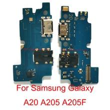 5 Pcs Originele Usb poort Opladen Connector Board Dock Flex Kabel Voor Samsung Galaxy A20 A205 A205F Lading Boaard Flex kabel Deel