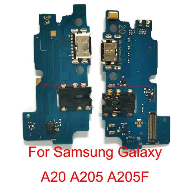5 шт. оригинальный USB зарядный порт разъем плата док станция гибкий кабель для Samsung Galaxy A20 A205 A205F зарядка Boaard гибкий кабель Часть