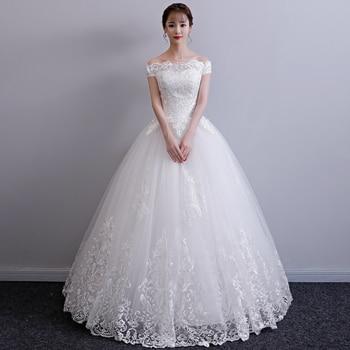 Wedding Dress Bride Plus Size Wedding Dresses Bridal Embroidery Princess Dream Flower Dresses Lace Up