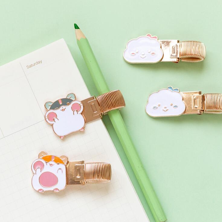 Sharkbang Kawaii Cloud Cat Fruit Series Shape Metal Pen Holder For Diary Notebook Planner Accessores Office School Stationery