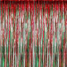 METABLE 40 Pack Foil Curtains Metallic Fringe Shimmer Curtain for Birthday Wedding Party Christmas Decorations