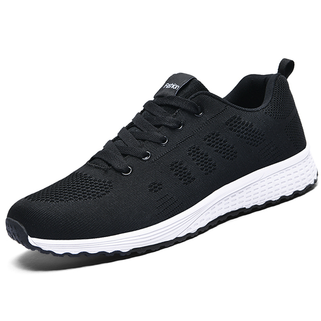 2020 Sneakers Women Shoes Flats Casual Ladies Shoes Woman Lace-Up Mesh Light Breathable Female zapatillas de deporte para mujer 2